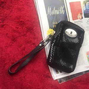 Fossil Wallet Phone Case IPhone Wristlet Black